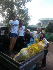 typhoon yolanda relief goods on the truck image
