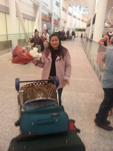 Leonor arrives in Canada image