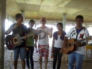 The band at the floating Restaurant photo